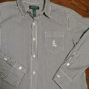 LAUREN Ralph Lauren S Men Pinstripe Monogram Shirt